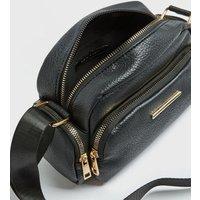 Black Zip Front Cross Body Camera Bag New Look Vegan