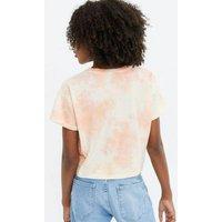 Girls Orange Tie Dye Malibu Varsity Logo T-Shirt New Look