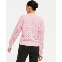 Cameo Rose Pink Cable Knit Button Up Cardigan New Look