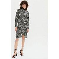 Zibi-London-Black-Animal-Print-High-Neck-Dress-New-Look
