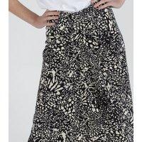 Zibi-London-Black-Leopard-Print-Midi-Skirt-New-Look