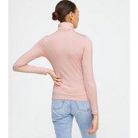 Blue Vanilla Pink Fleece Lined Roll Neck Top New Look