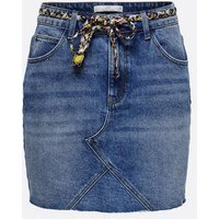 JDY Indigo Denim Tie Waist Mini Skirt New Look