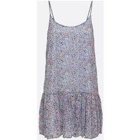 JDY Pale Blue Ditsy Floral Drop Hem Slip Dress New Look