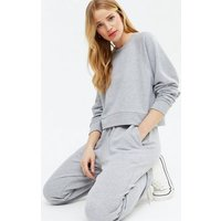 Cameo Rose Pale Grey Jersey Sweatshirt and Jogger Set New Look