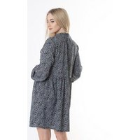 Gini London Navy Floral Smock Dress New Look