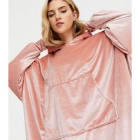 Cameo Rose Pink Soft Hooded Blanket New Look