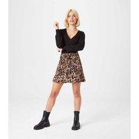 Urban Bliss Black Ribbed Knit Wrap Cardigan New Look