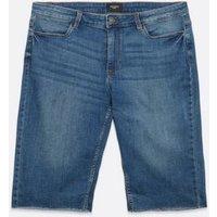 Vero Moda Curves Indigo Denim Knee Shorts New Look