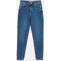 Petite Blue High Rise Ashleigh Skinny Jeans New Look