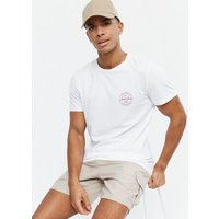 Men's Jack & Jones White Circle Logo Crew T-Shirt New Look