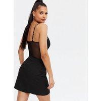 Black Lace Bustier Bodysuit New Look