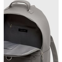 Grey Leather-Look Backpack New Look