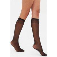 3 Pack Black 15 Denier Knee High Socks New Look