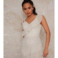 Chi Chi London Off White Spot Ruffle Maxi Dress New Look
