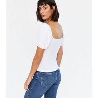 White Daisy Embroidered Top New Look