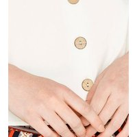 Apricot Cream Button Vest New Look