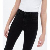 Girls Black High Waist Hallie Super Skinny Jeans New Look