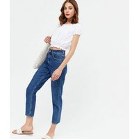 White Broderie Button Bardot Top New Look