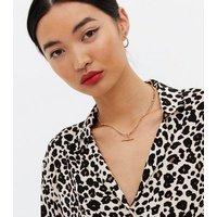 Brown Leopard Print Short Sleeve Shirt New Look