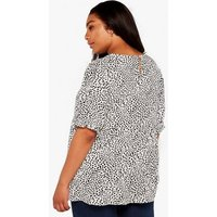 Apricot Curves White Spot Tiered Top New Look