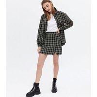 Wednesdays Girl Black Check Tweed Mini Skirt New Look