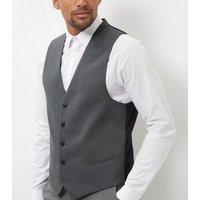 Mens Grey Slim Fit Suit Waistcoat New Look