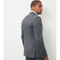 Mens Grey Slim Fit Suit Jacket New Look