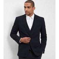 Mens Blue Slim Fit Suit Jacket New Look