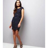 AX-Paris-Navy-Crochet-Lace-Cap-Sleeve-Midi-Dress-New-Look
