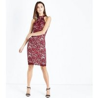 AX-Paris-Red-Lace-High-Neck-Bodycon-Dress-New-Look