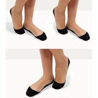 3 Pack Black Invisible Socks New Look