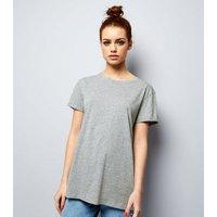 Petite Grey Oversized T-Shirt New Look