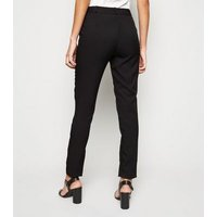 Black Stretch Slim Leg Trousers New Look