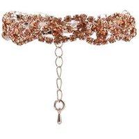 Pink Crystal Plaited Bracelet New Look