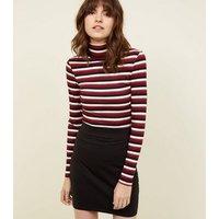 Black Cotton Mix Mini Tube Skirt New Look