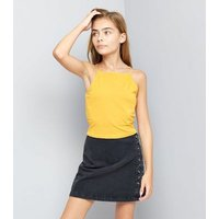 Teens Yellow High Neck Cami New Look