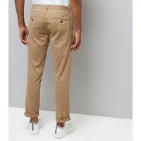 Stone Slim Leg Chino Trousers New Look