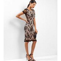 AX ParisAX Paris Black Floral Lace Bodycon Midi Dress New Look