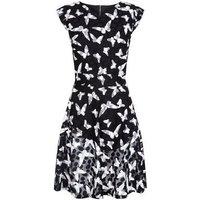Mela Black Butterfly Print Dress New Look