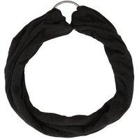 Black Ring Front Headband New Look