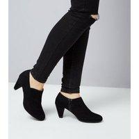 Teens Black Suedette Shoe Boots New Look