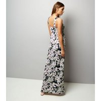 Mela Shell Pink Floral Print Maxi Dress New Look