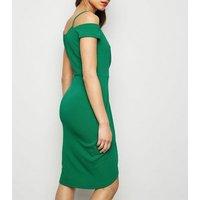 AX Paris Green Cold Shoulder Midi Dress New Look