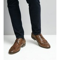 Men's Brown Formal Brogues New Look