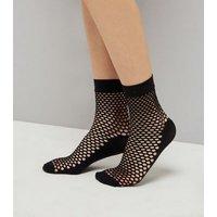 Black Honeycomb Fishnet Socks New Look