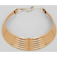 Gold Piped Layered Choker New Look