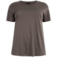 Curves Dark Grey Oversized T-Shirt New Look