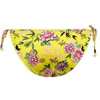 Yellow Floral Print Tie Side Bikini Bottoms New Look