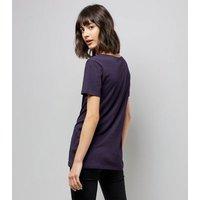 Tall Navy Scoop Neck T-Shirt New Look